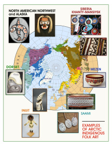 Arctic indigenous arts map